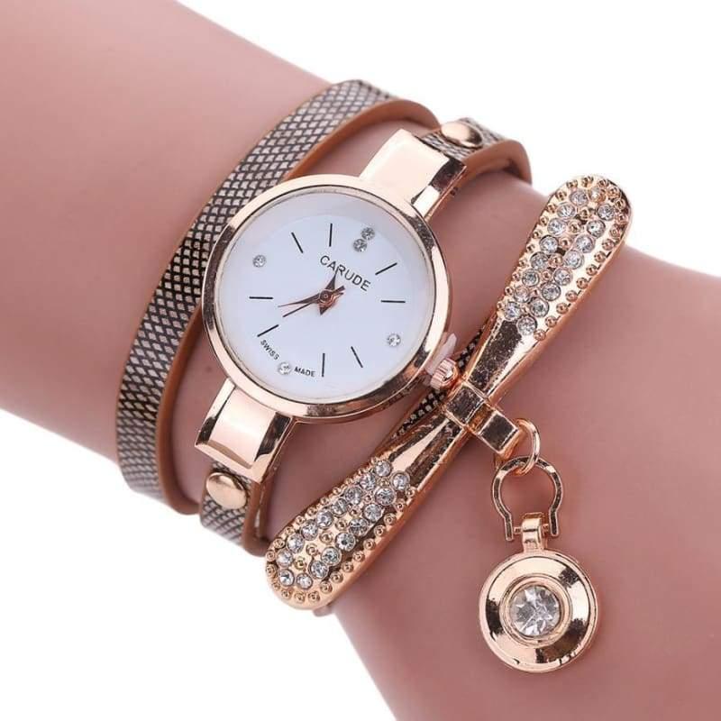 Fashion Bracelet Watch - Brow - Womens Watches