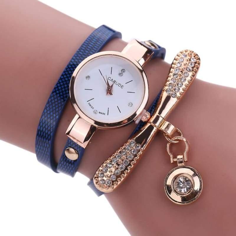 Fashion Bracelet Watch - Dark Blue - Womens Watches