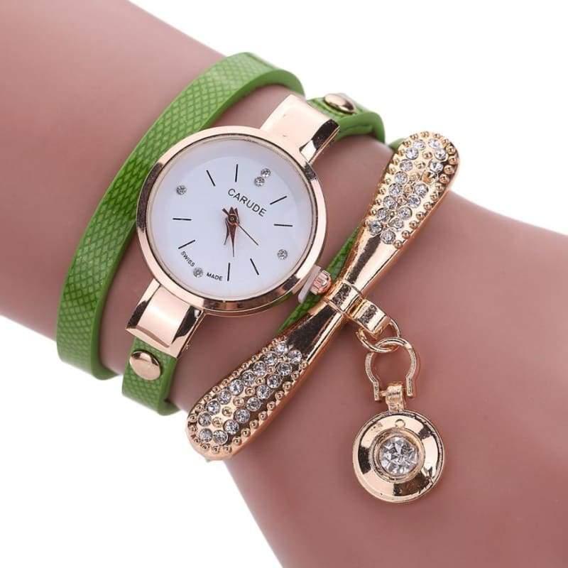 Fashion Bracelet Watch - Green - Womens Watches