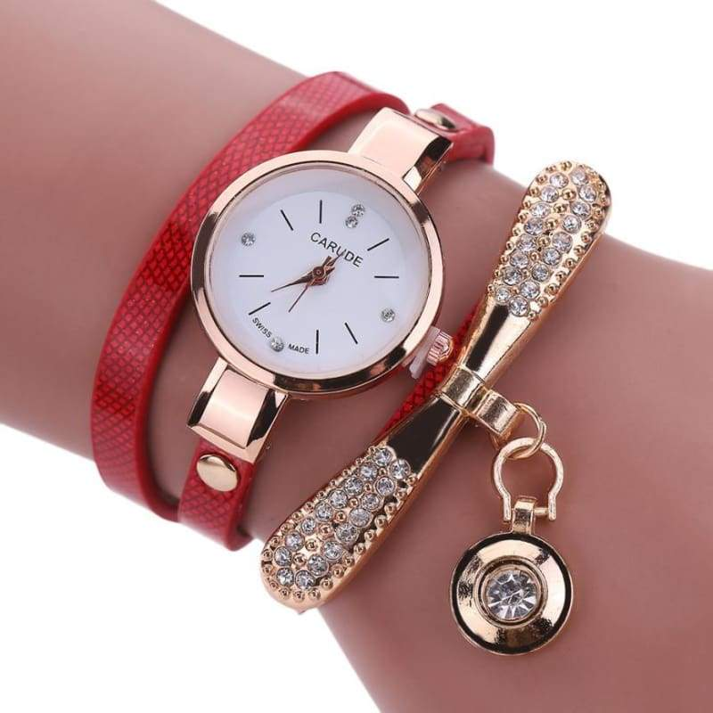 Fashion Bracelet Watch - Red - Womens Watches