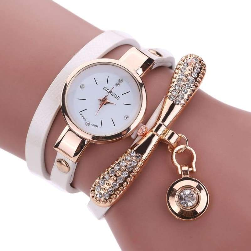Fashion Bracelet Watch - White - Womens Watches