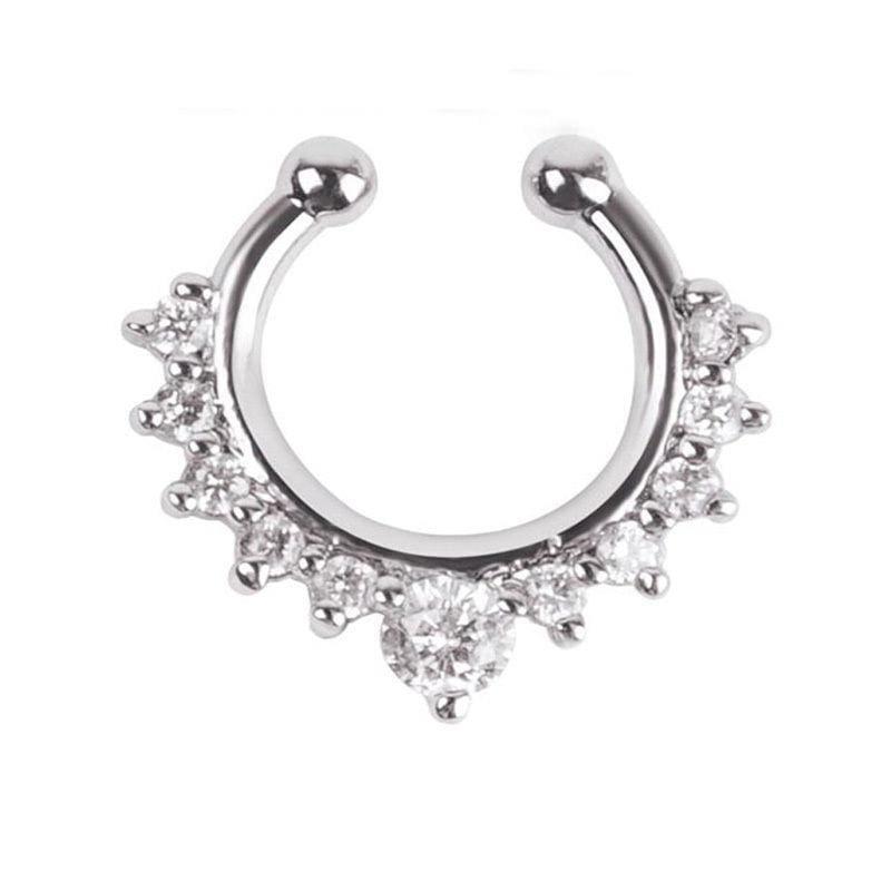Faux Septum Piercing - silver - Nose Piercing