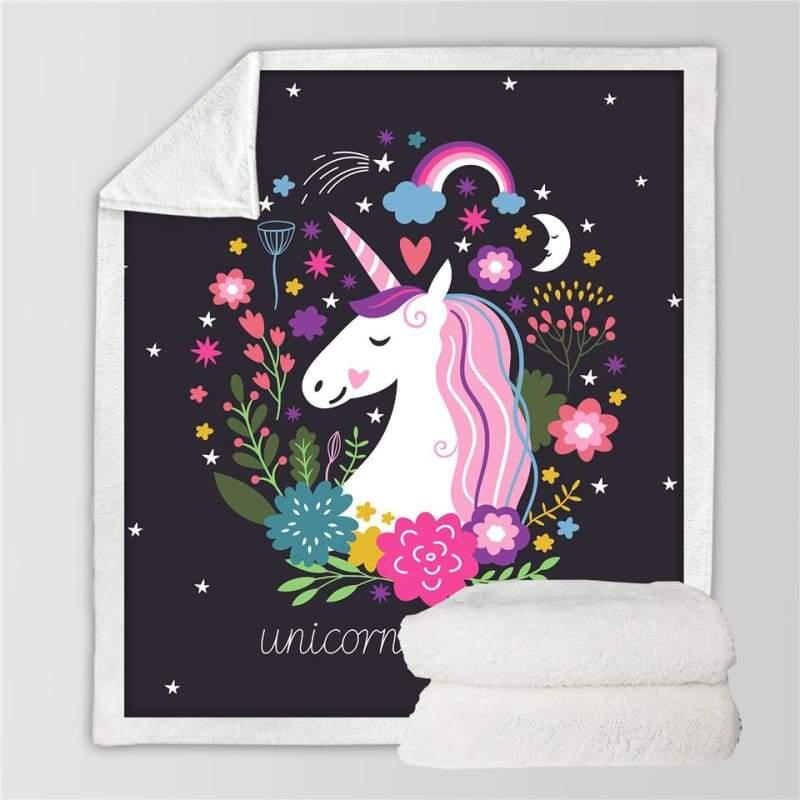 Fleece Blanket Unicorns for kids - Blankets