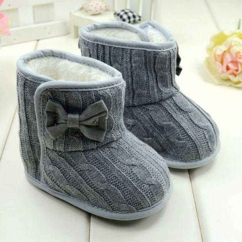 Fleece Lined Boots For Girls - First Walkers