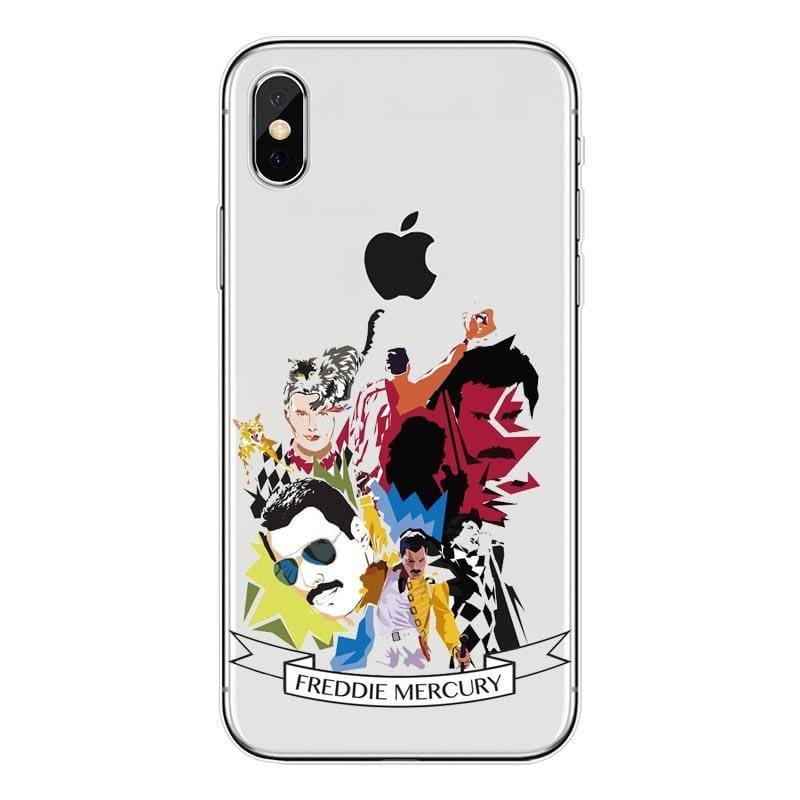 Freddie Mercury iPhone Case - For iPhone11 ProMax 88 / TPU - Half-wrapped Case