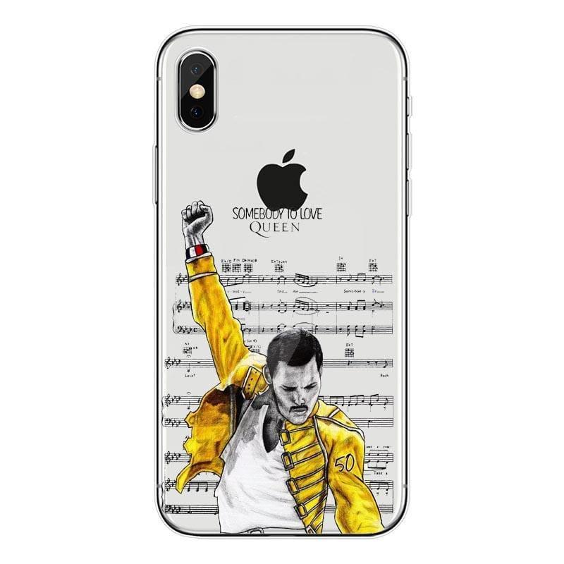 Freddie Mercury iPhone Case - For iPhone XSMAX 15 / TPU - Half-wrapped Case
