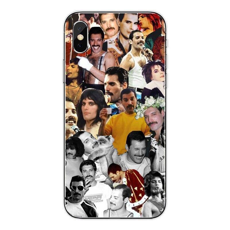 Freddie Mercury iPhone Case - For iPhone XSMAX 45 / TPU - Half-wrapped Case