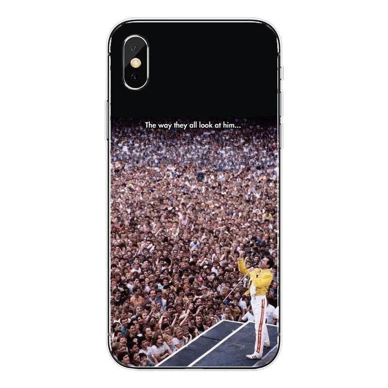 Freddie Mercury iPhone Case - For iPhone XSMAX 55 / TPU - Half-wrapped Case