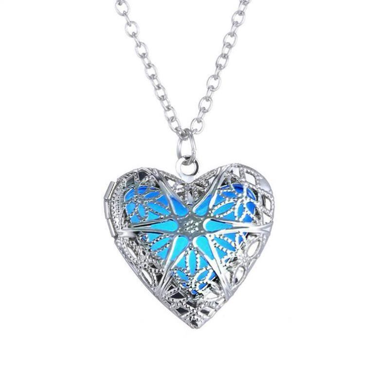 Glowing Love Heart Necklace - Photo Color - Pendant Necklaces