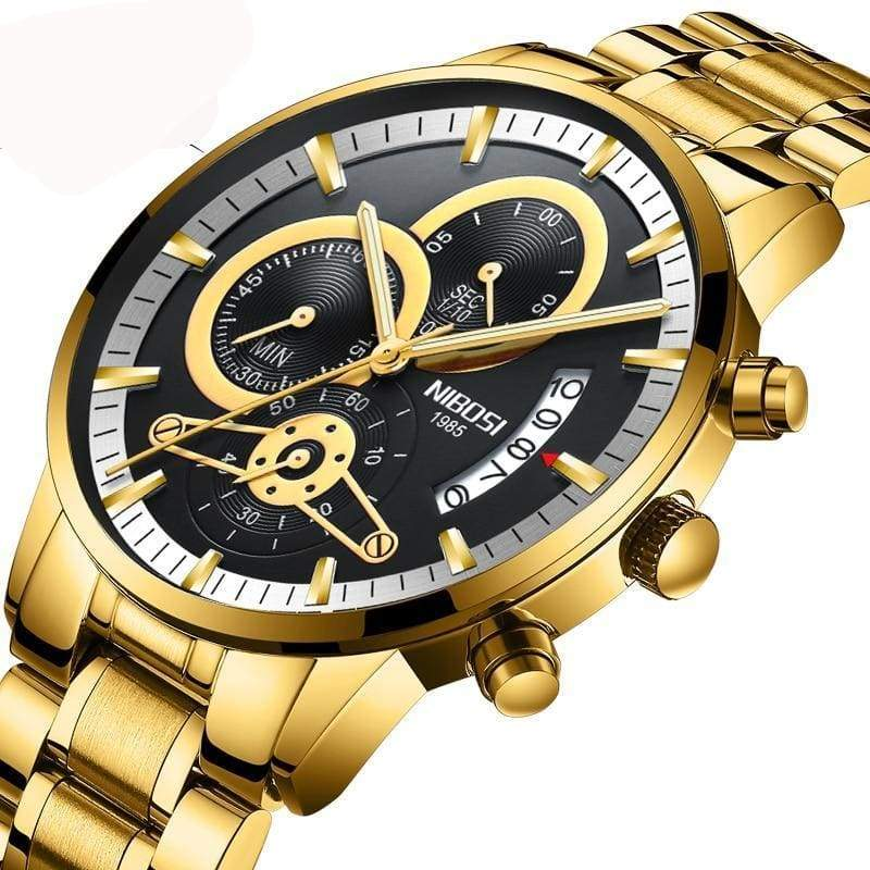 Gold And Black Luxury Sports Watches - Quartz Watches