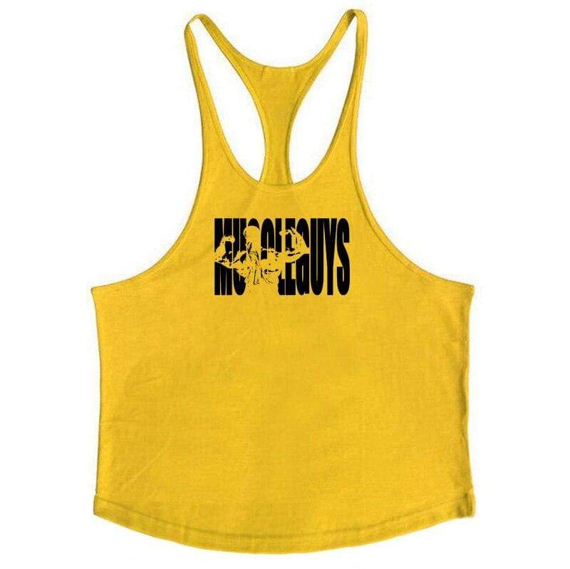 Golds Gym Tank Top Just For You - yellow164 / M - Tank Tops