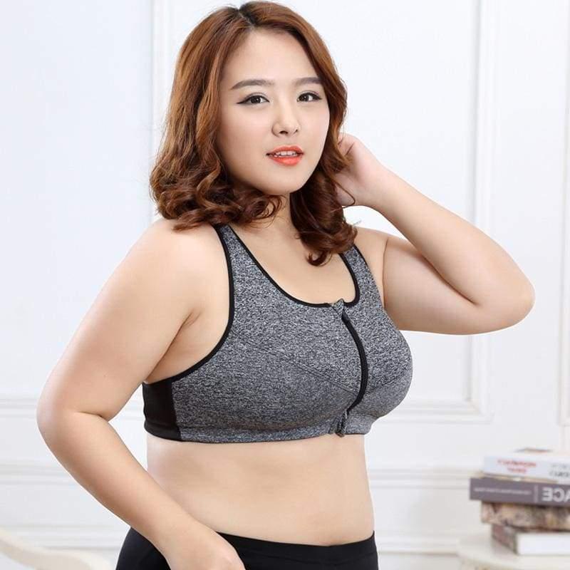GYM zipper Adjustable Strap sports bra - Sports Bras