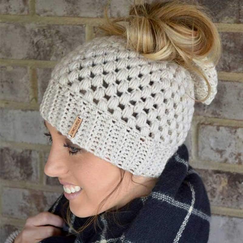 Handmade ponytail beanie - Skullies & Beanies