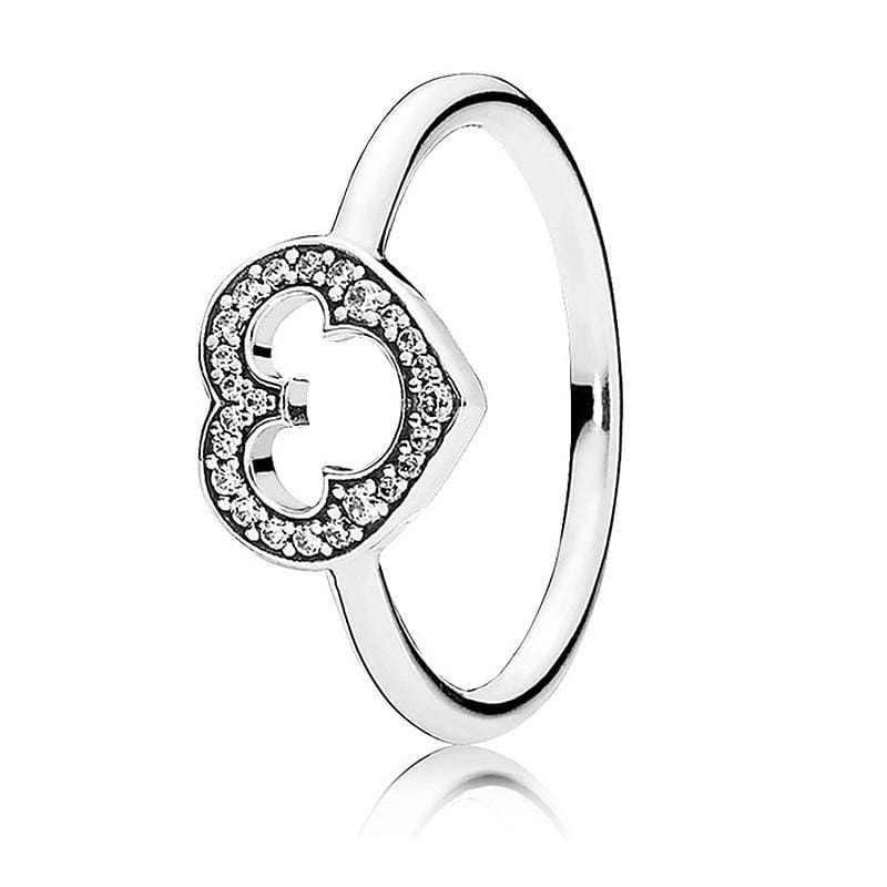Hearts Of Halo Clover Rings - 6 / 1 - Wedding Bands