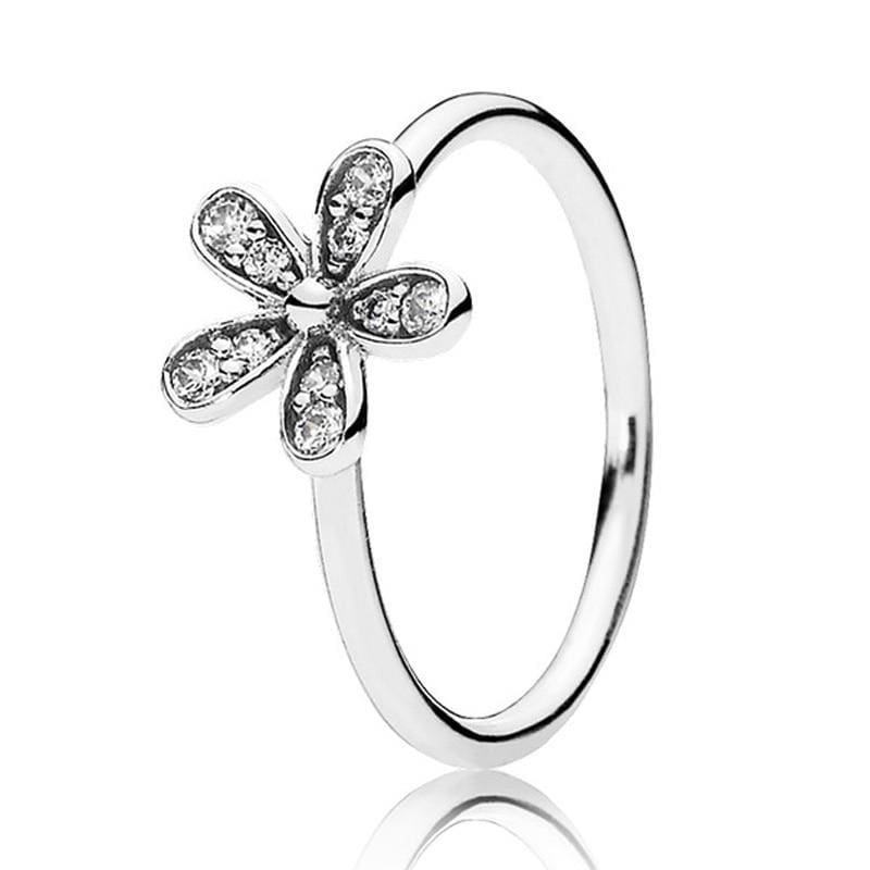 Hearts Of Halo Clover Rings - 6 / 3 - Wedding Bands
