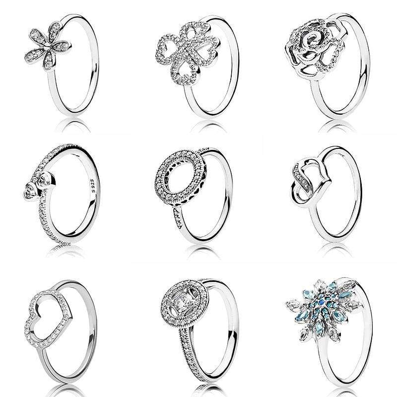 Hearts Of Halo Clover Rings - Wedding Bands