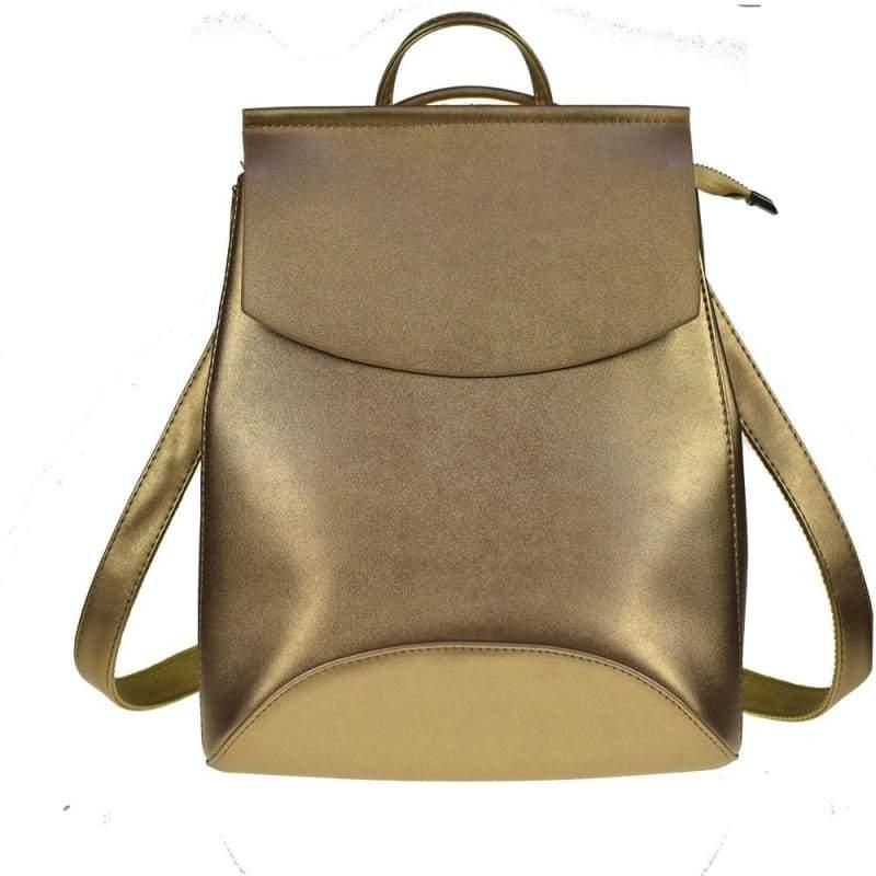 High Quality Women Backpack - Golden - Backpacks