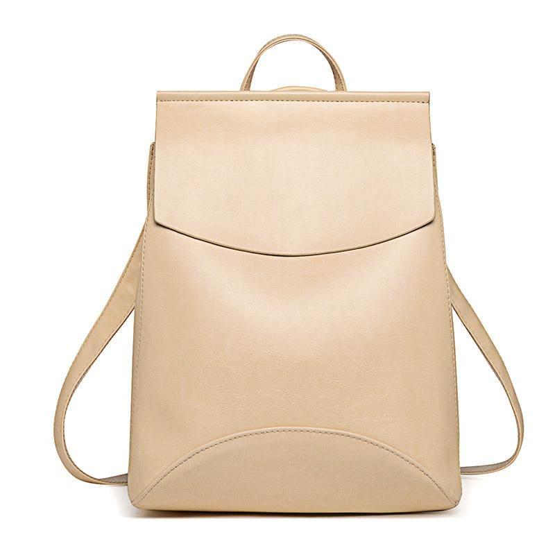 High Quality Women Backpack - Beige - Backpacks