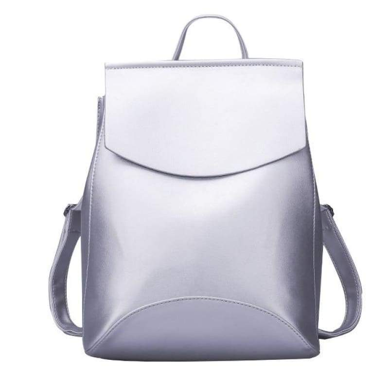 High Quality Women Backpack - Silver white - Backpacks