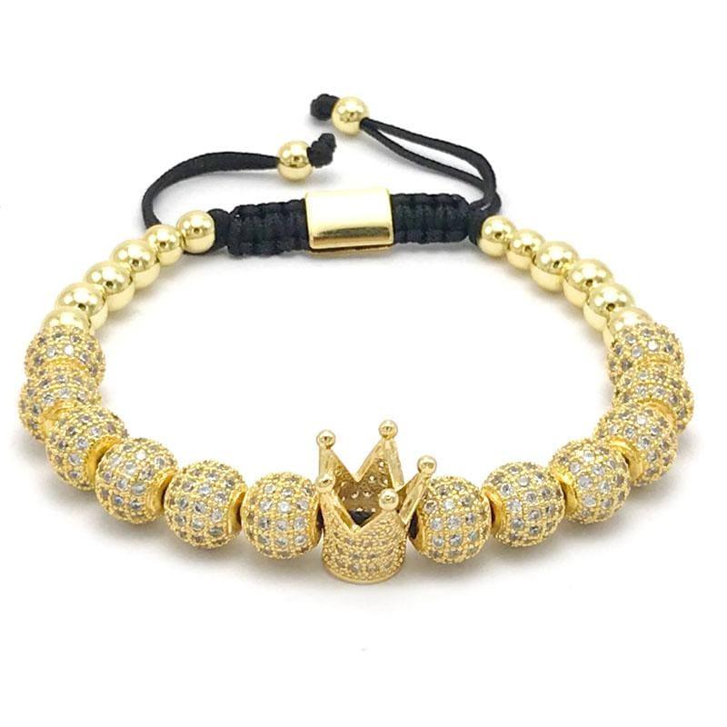 Imperial Crown Bracelet - Gold-color - Strand Bracelets
