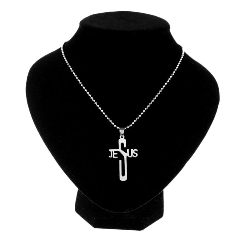 Jesus Cross Pendant - Pendant Necklaces