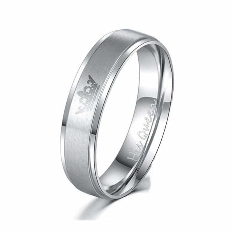 King and Queen Rings - 10 / 1 pcs Silver Queen - Engagement Rings
