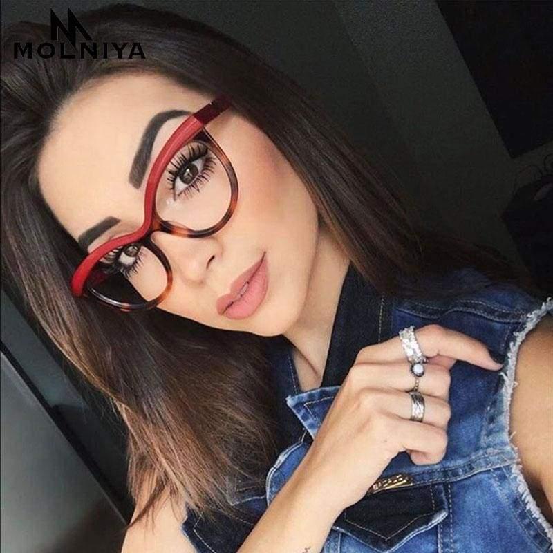 Ladies Eyebrows Square Glasses - Eyewear Frames