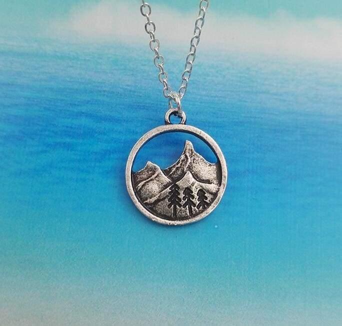 Landscaping Mountain Pendant - 01 - Pendant Necklaces