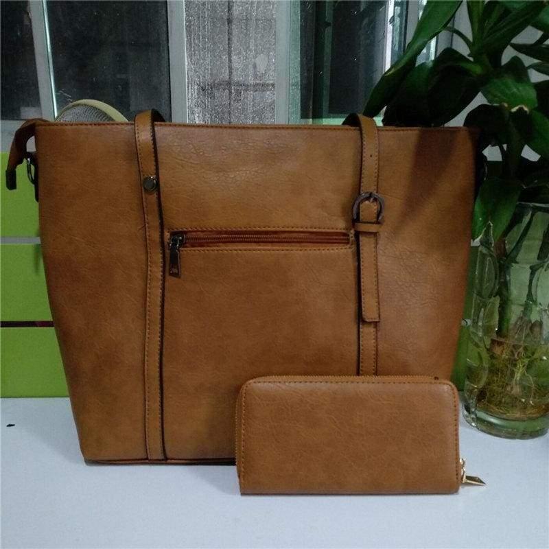 Large Shoulder Bag Ladies - brown - Top-Handle Bags