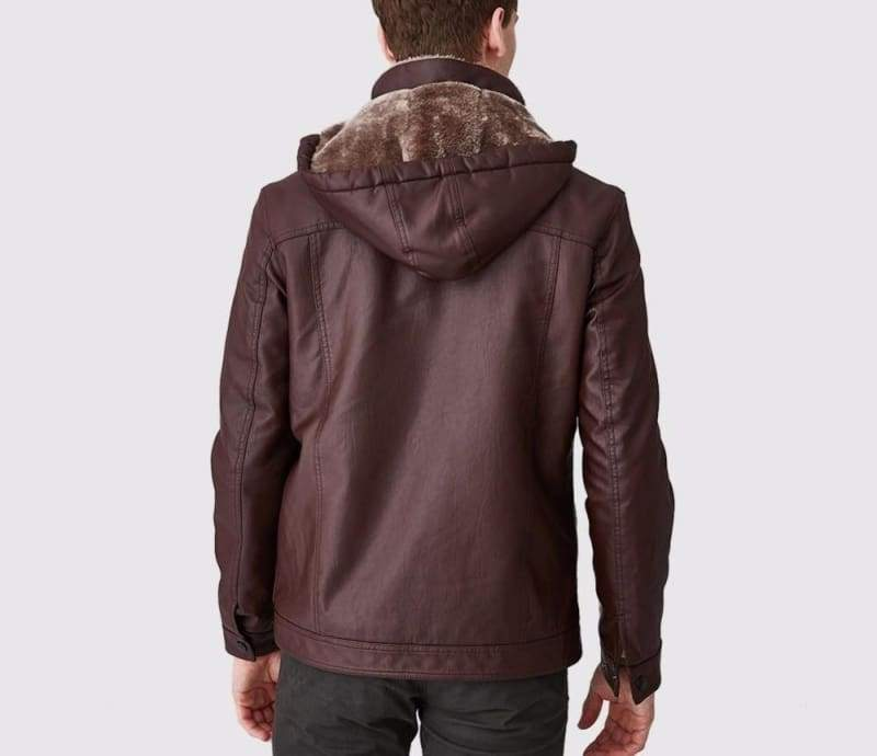 Leather Jackets Fur Hooded - Faux Leather Coats