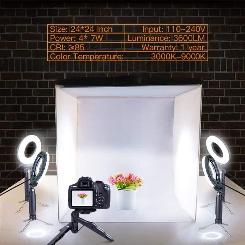 LED Foldable Photo Studio - Tabletop Shooting