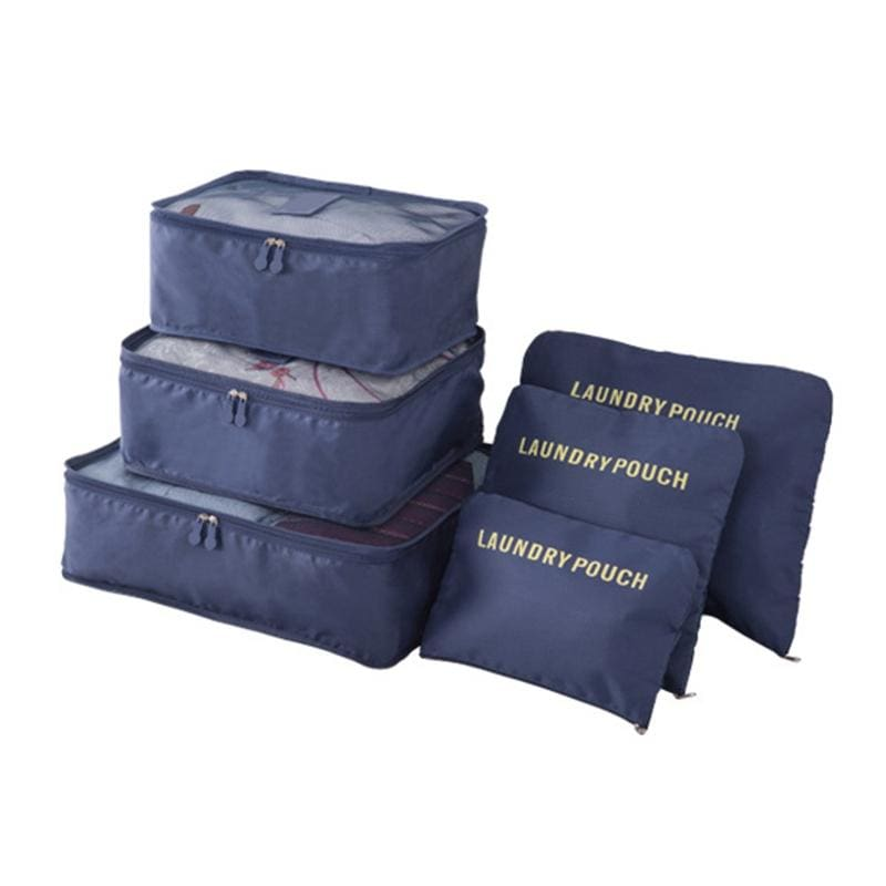 Luggage Packing Organizer Set - Navy Blue - Storage Bags