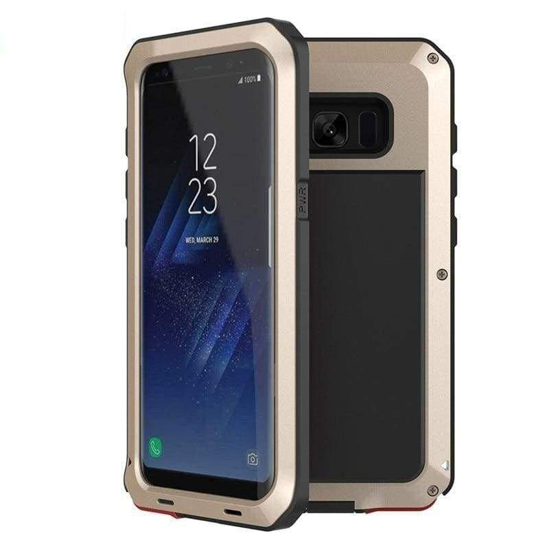 Luxury Doom Armor Metal Heavy Duty Samsung Phone Case Protection - Gold / For Galaxy Note 9 - Fitted Cases