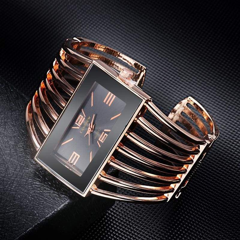 Luxury Fashion Watch Rose Gold Bangle Bracelet - Womens Watches