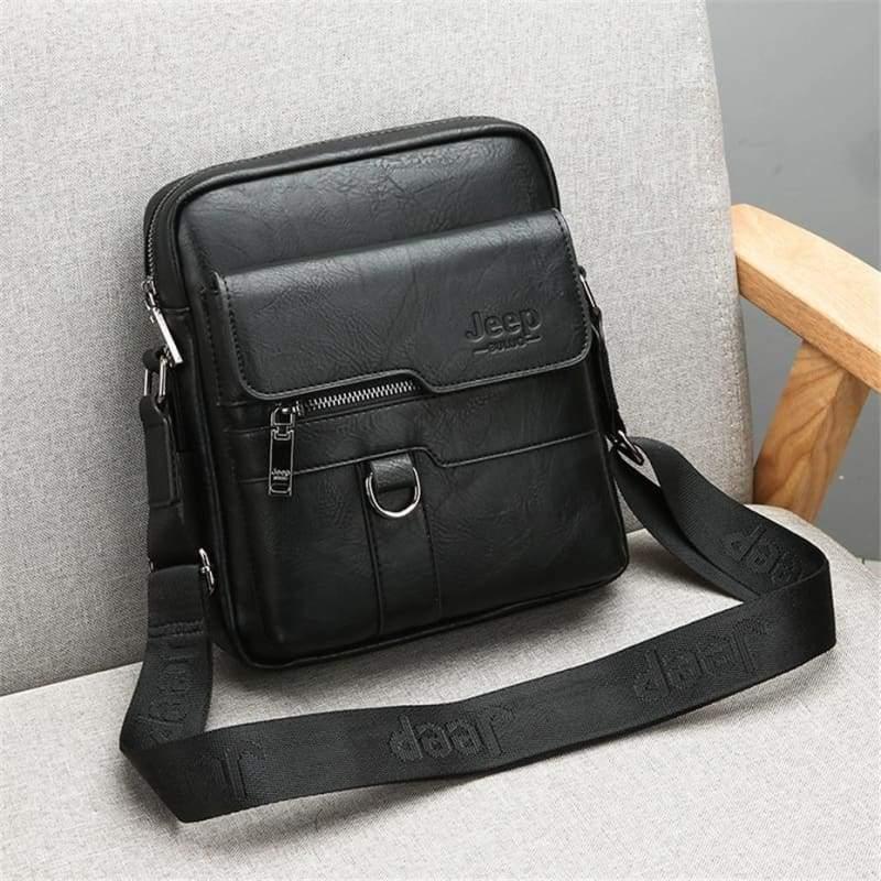 Luxury Leather Men Handbag - Crossbody Bags