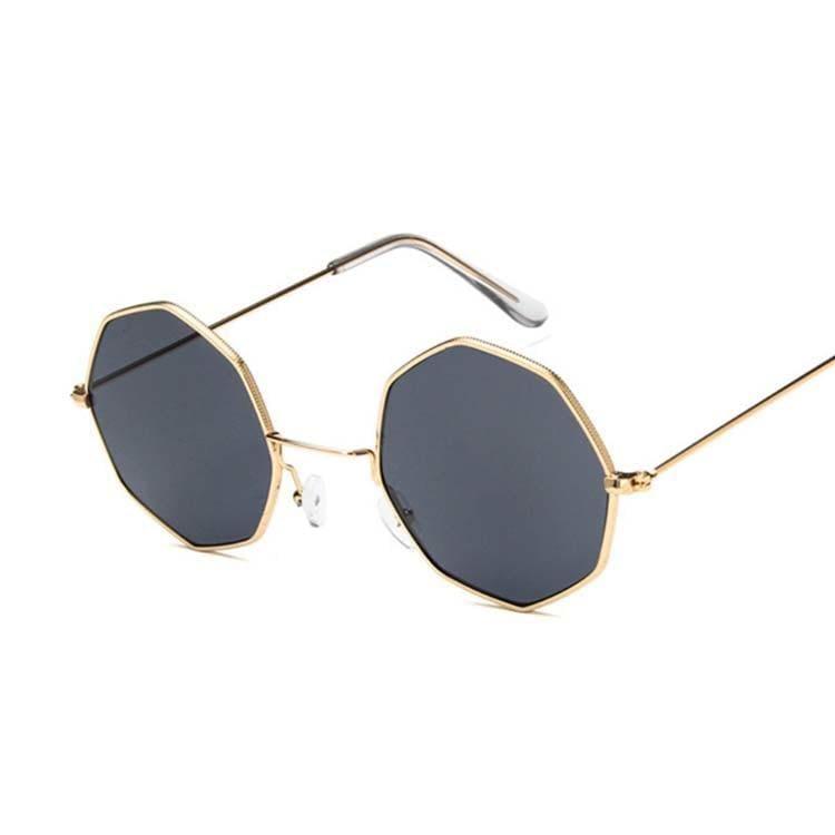 Luxury Octagon Sunglasses - Gold Gray - Sunglasses