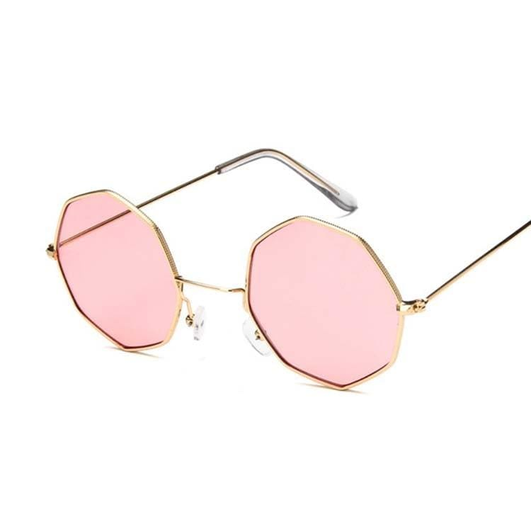 Luxury Octagon Sunglasses - Gold Pink - Sunglasses