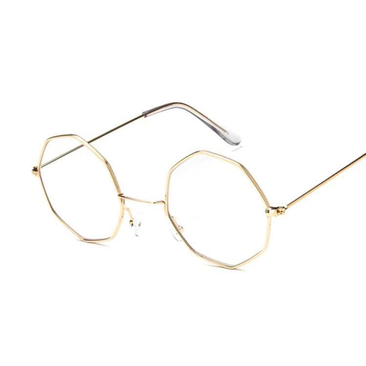 Luxury Octagon Sunglasses - Gold - Sunglasses