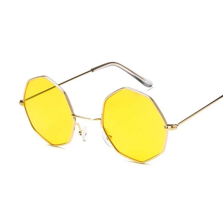 Luxury Octagon Sunglasses - Gold Yellow - Sunglasses