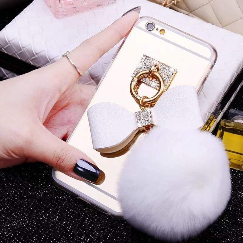 Luxury Rhinestone Case Cover For iPhone - Blowball-White / For iPhone XR - Rhinestone Cases