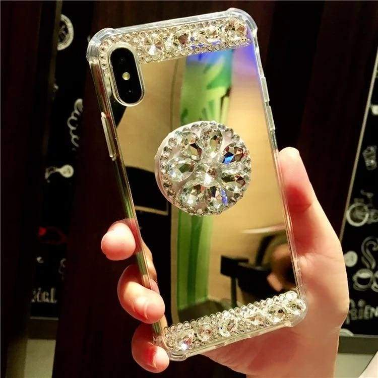 Luxury Rhinestone Case Cover For iPhone - Bubbl-Gold / For iPhone XR - Rhinestone Cases