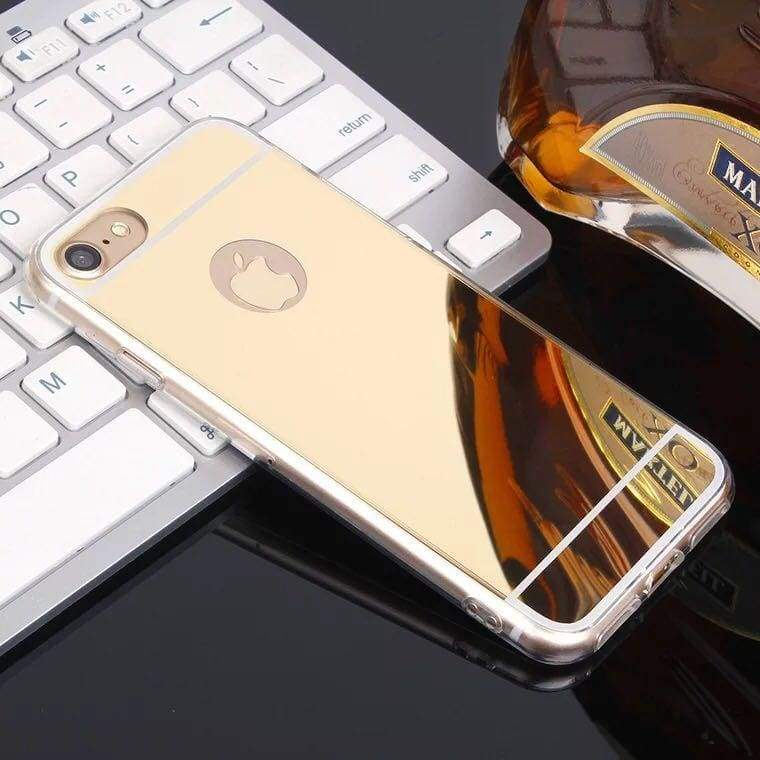 Luxury Rhinestone Case Cover For iPhone - Gold / For iPhone XR - Rhinestone Cases