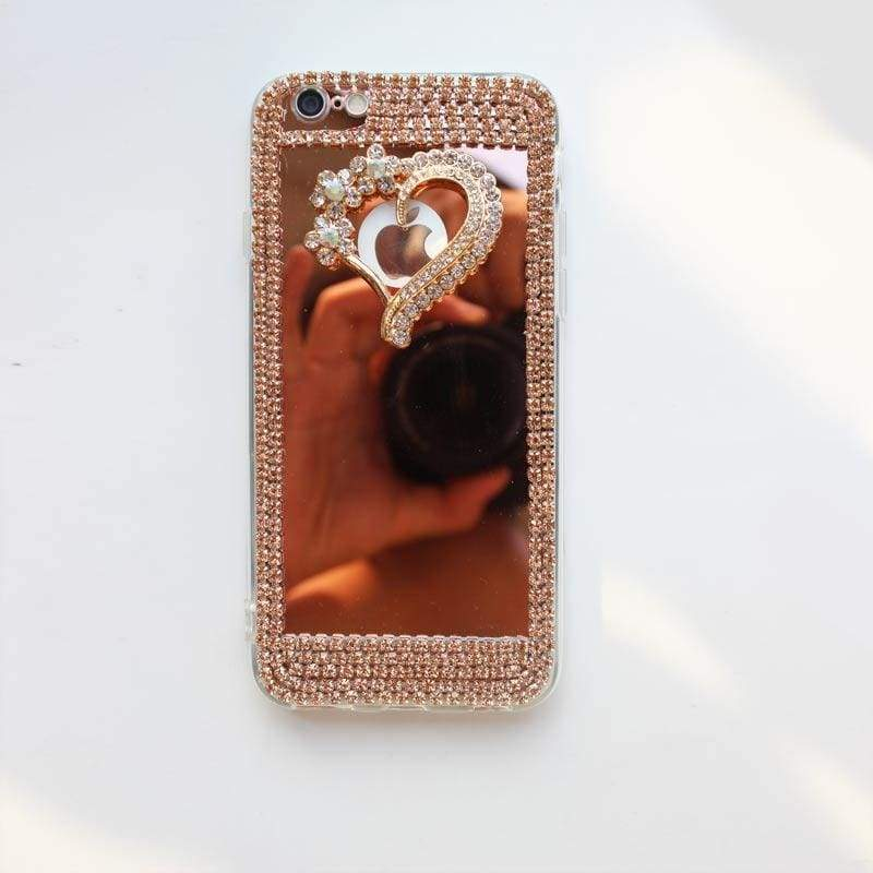 Luxury Rhinestone Case Cover For iPhone - Pink-Love / For iPhone XR - Rhinestone Cases
