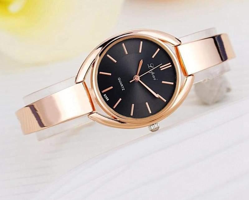 Luxury Women Bracelet Watches - Rose Gold Black 2 - Womens Watches