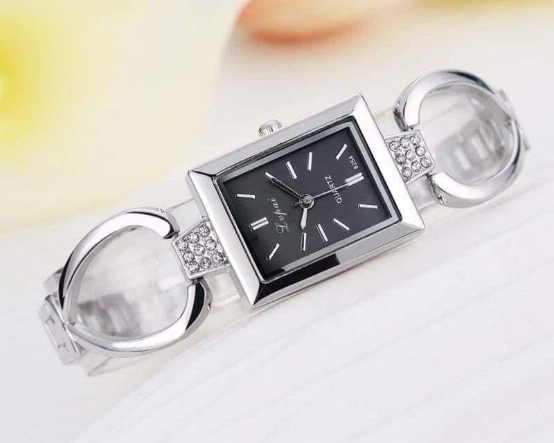Luxury Women Bracelet Watches - Silver Black 3 - Womens Watches