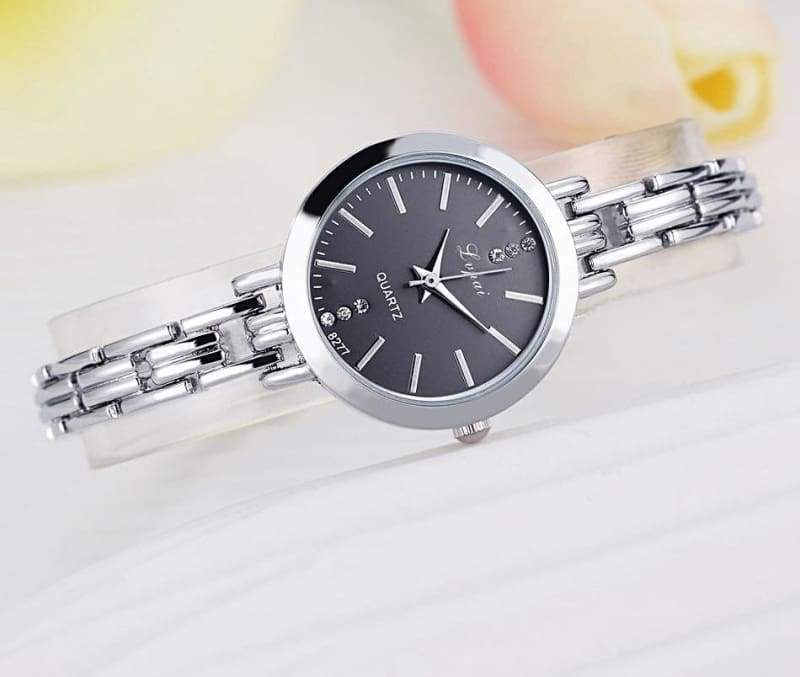 Luxury Women Bracelet Watches - Silver Black - Womens Watches