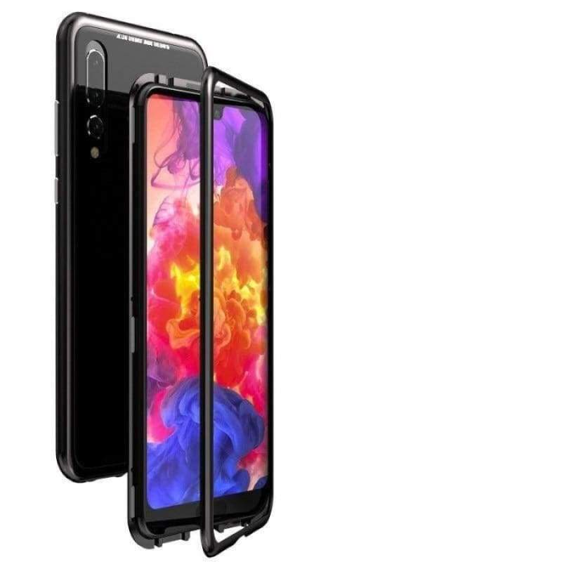 Magnetic Adsorption Case for Huawei - Black-Black Back / For Huawei P20 / with Retail pack - Fitted Cases