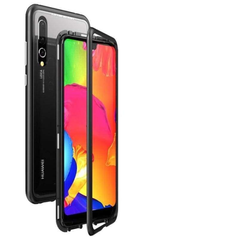 Magnetic Adsorption Case for Huawei - Black-Clear Back / For Huawei P20 / with Retail pack - Fitted Cases