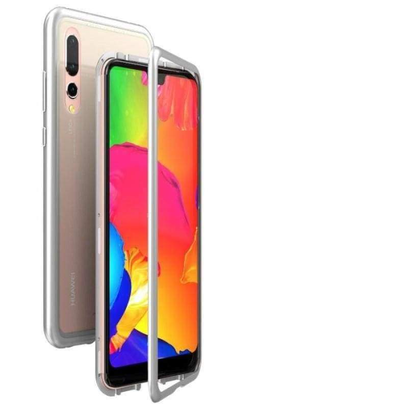 Magnetic Adsorption Case for Huawei - Silver-Clear Back / For Huawei P20 / with Retail pack - Fitted Cases