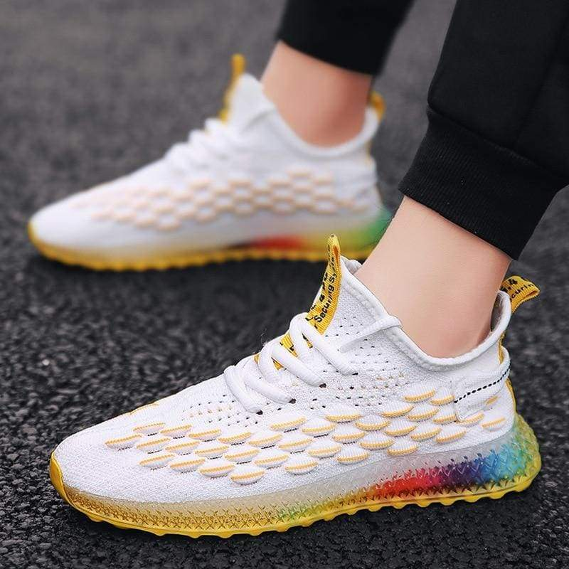 Mesh Breathable Sneakers Shoes For Men and Women - Yellow / 39 - Sneakers shoes